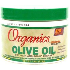 Africas Best Organics Olive Oil Cream Therapy 7.5oz Jar for Dry Hair  #PersonalCare