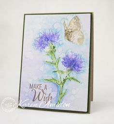 PaperLilies and Ink - The BG layer was colored with Distress Oxides and then embossed with the Floral BG die.  Serendipity Products Used 451K Thistle