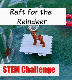 Christmas STEM – Raft For The Reindeer Reindeer STEM Challenge. Easy Christmas reindeer themed activity for kids! Save a little reindeer by designing, building and testing rafts Christmas Books For Kids, Christmas Activities For Kids, Christmas Fun, Kindergarten Christmas, Reindeer Christmas, Preschool Science, Science For Kids, Science Room, Science Experiments