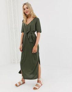718ac11e16b ASOS DESIGN soft touch belted maxi dress