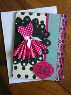 handmade sweet 16 birthday card cards 16th birthday pinterest