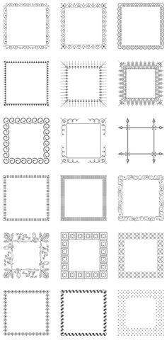 lots of free frames--all shapes and sizes--Free Vintage Borders & Frames