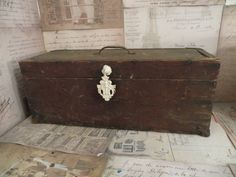 Vintage Wood Tool Chest Carpenter's chest Wood by oZdOinGItagaiN