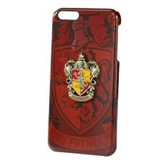 Harry Potter Official Gryffindor House Crest iPhone 6 Plus Case. Officially authorized by Warner Brothers. Hard shell phone case with diecast emblem Manufactured by The Noble Collection Coque Harry Potter, Bijoux Harry Potter, Harry Potter Phone Case, Harry Potter Anime, Harry Potter 2, Harry Potter Gryffindor, Harry Potter Bedroom, Harry Potter Merchandise, Slytherin