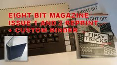 Eight Bit Magazine, Issue 1 and 2 reprints plus the option for a wired binder designed to hold 12 issues of the magazine.