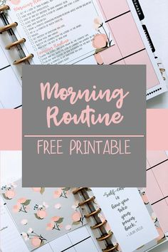 Many Sides For Me – How To Plan A Good Morning Routine + Free Printable Planner – … Free Planner, Happy Planner, Planner Ideas, A5 Planner Printables Free, Passion Planner, Morning Routine Printable, Morning Routines, Morning Habits, Planer Organisation