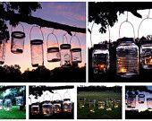 Mason Jar Lanterns Hanging Tea Light by TheCountryBarrel on Etsy.