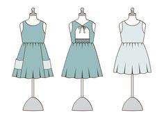 June Dress – Violette Field Threads Dresses For Tweens, Girls Dresses, Baby Frocks Designs, Frock Design, Coordinating Fabrics, Gathered Skirt, Toddler Girl Dresses, Baby Sewing, Dress Patterns