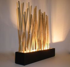 Custom Made Bamboo Led Mood Lighting - Modern Japanese Style Accent Lamp
