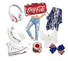 """""""My cool summer"""" by anne-lise-knoph on Polyvore featuring Doublju, Beats by Dr. Dre, Converse and beautifulhalo"""