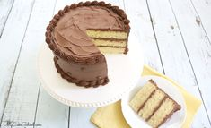 This is the BEST Yellow Cake from Scratch! A flavorful yellow layer cake that is perfect for any special occasion! Makes a wonderful birthday cake and can be easily altered with extracts and add-ins! Cake Recipes From Scratch, Easy Cake Recipes, Cupcake Recipes, Pie Recipes, Yummy Recipes, Dessert Recipes, Marble Cake Recipes, Gourmet Cakes, Deserts