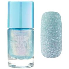 Forever21 Blue Iridescent Nail Polish (87 CZK) ❤ liked on Polyvore featuring beauty products, nail care, nail polish, nails, beauty, makeup, forever 21 and forever 21 nail polish