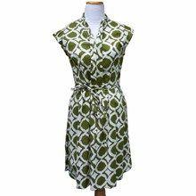 Fair Trade Batik Dress With Green Fisheye Print - Tango Zulu Batik Prints, Batik Dress, Zulu, Fair Trade, Women Empowerment, Dresses For Work, Ghana, Tango, Green