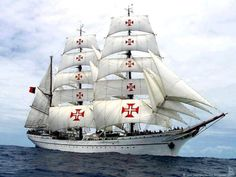 """Looked up this ship (it's a three-masted barque) online, and found out that it's the """"Sagres II"""" of Portugal. Very, very nice! Ireland Vacation, Ireland Travel, Galway Ireland, Cork Ireland, Nautical Terms, Puerto Rico, Wood Boats, Ireland Landscape, Sailing Ships"""