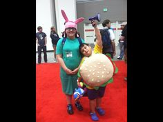 My kids as Gene and Louise Belcher from Bob's Burgers at GenCon 2013!