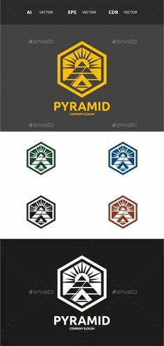 Pyramid Logo — Vector EPS #triangle #modern • Available here → https://graphicriver.net/item/pyramid-logo/10721130?ref=pxcr