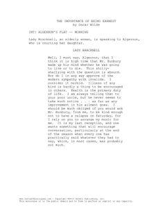 Charlie S Last Letter Monologue