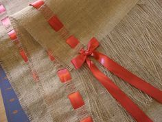 Burlap and Coral Runner by HouseofBurlap on Etsy