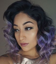Pastel Purple Ombre For Black Hair
