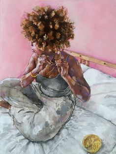 — Tierra by Jurell Cayetano buy it here:. Black Love Art, Black Girl Art, Art Girl, Arte Black, Natural Hair Art, Au Natural, By Any Means Necessary, Black Art Pictures, Art Africain