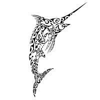 Takeketonga - Polynesian Marlin tattoo flash