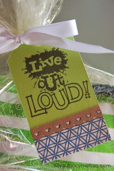 July Stamp of the Month Blog Hop- Live Out Loud