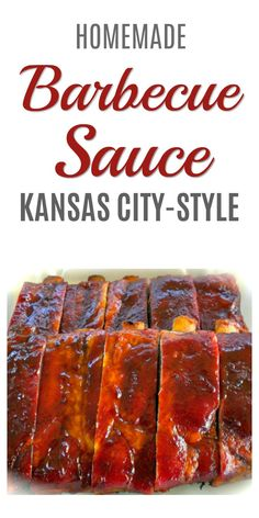 Homemade Barbecue Sauce Recipe - This Kansas City-style recipe combines heat and sweet for the perfect taste. #barbecuesauce #barbequesauce #bbqsauce #barbecue #grilling #sauce #recipe #homemade #condiment