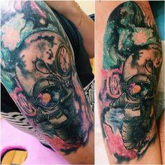Space man tattoo