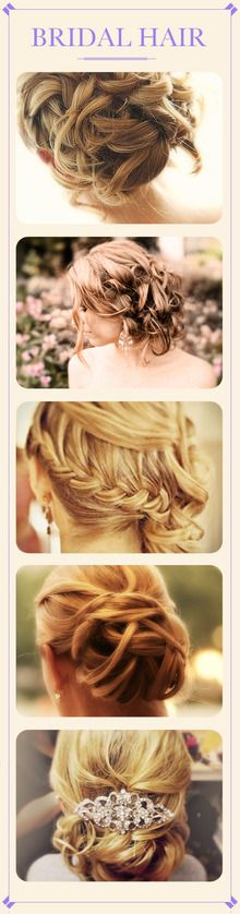 A few beautiful hair looks for brides!