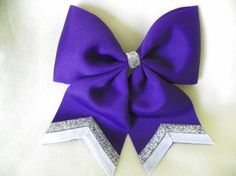 Large Purple Hairbow - Cheerleading Hairbow - Hairbows on Etsy, $5.00