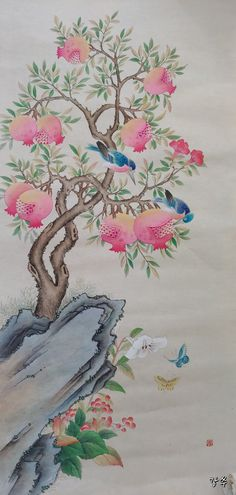 Indian Paintings, Chinese Painting, Art Techniques, Watercolor Paintings, Art Drawings, Sketches, Drawing Ideas, Flowers, Watercolor Painting