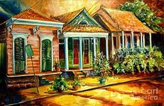 New Orleans Painting - Houses In The Marigny by Diane Millsap