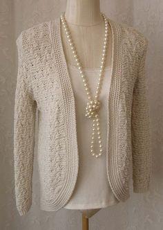 Cache Brown Bronze Shimmer Sequin LS Shrug Sweater Front Tie ...