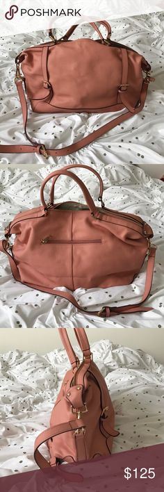 """NWOT Ora Delphine Adele satchel pink leather Genuine leather with gold tone hardware, top zip closure, removable adjustable strap, exterior zip pocket, one interior and two slip pockets, 6"""" handle drop, 14"""" x 5"""" x 10"""", 2 lbs. search online for more pictures, featured on Good Morning America Ora Delphine Bags Satchels"""