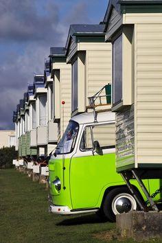 Vdub VW Bus Art Print Vdub Bulli Bully surfing camping VW Volkswagen Transporter green Bus auto car camper motorhome mobilehome