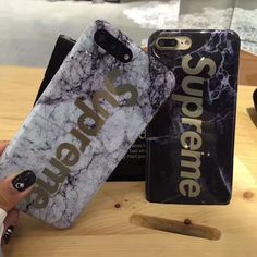 Luxury Fashion supreme Marble gold Phone Cases for iPhone 7 Case Marble case For Apple iphone 6S 6Plus 6SPlus Cover Coque Fundas