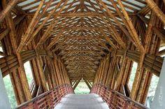 Bamboo stuctures by Simon Velez