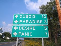 Paradise, Pennsylvania Paradise, like Intercourse, is another popular site for tourists. The film Trapped in Paradise was filmed here. Weird City Names, Funny Road Signs, Missing My Friend, Town Names, Places In America, Popular Sites, Sounds Good, Pennsylvania, Hilarious