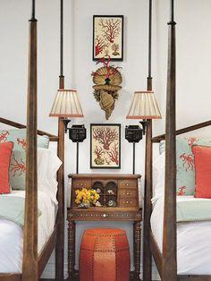 Home Interior Entrance .Home Interior Entrance Home Bedroom, Bedroom Decor, Coral Bedroom, Bedroom Orange, Home Interior, Interior Design, Asian Interior, Eclectic Design, Interior Plants