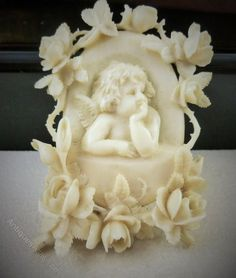 Antiques Atlas - Antique Victorian Ivory Cherub Brooch Circa 1860