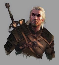 Geralt of Rivia by HikaruNoFukuda