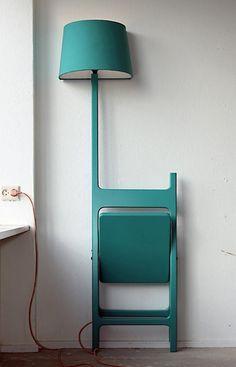 silla - lámpara