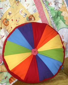 Rainbow sprocket pillow