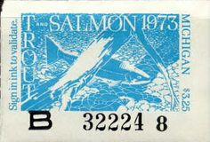 1973 Michigan Fishing Trout and Salmon Stamp by UpNorth Memories - Donald (Don) Harrison, via Flickr