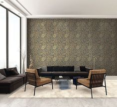 Inspired by metal ceiling tiles this wallpaper comes in a variety of colours. Let past designs inspire the patina of your life. Main Colors, Colours, Metal Ceiling Tiles, New York Loft, Paper People, Home Wallpaper, Dining Bench, Foundation, Industrial