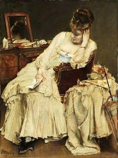 Alfred Stevens (1823-1906) Belgian Painter ~