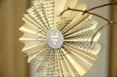 Lana of Honeysuckle Lane made these folded fan rosettes and used our Martha Stewart scalloped circle punch! Click the picture to check out some more cute decorations she made for her son's wedding shower!