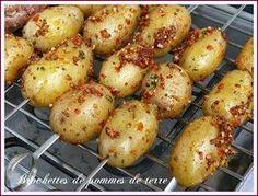 Brochettes de pomme de terre