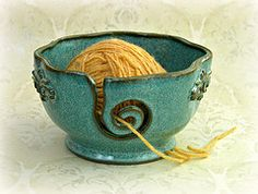 Flickr: MudsEvolutionaryPottery - Yarn Bowl