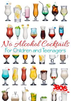 No Alcohol cocktails for children and teenagers